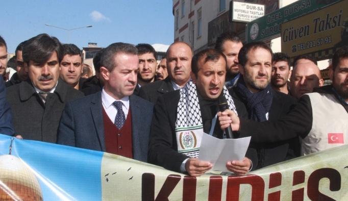 Hakkari'de ABD'ye tepki protestosu