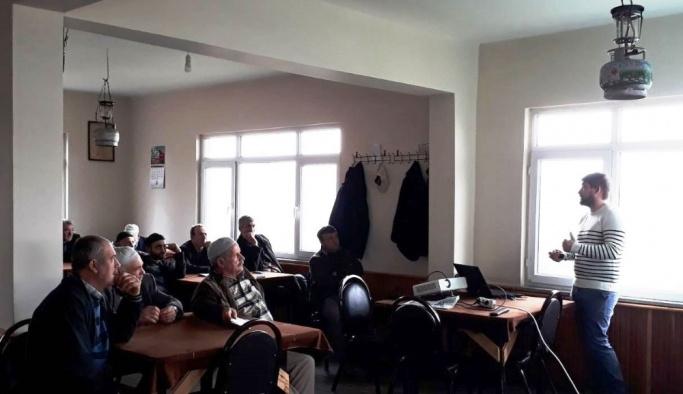 Hasancık'ta süt inekçiliği anlatıldı