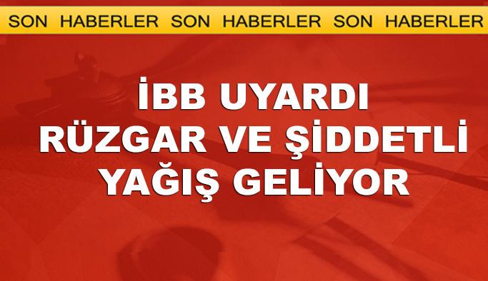 İBB akşam için uyardı, İstanbul'da hem rüzgar hem yağış
