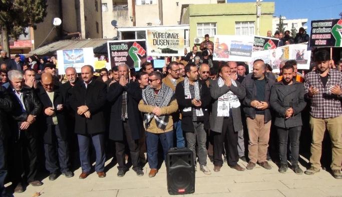 İslahiye'de Kudüs protestosu