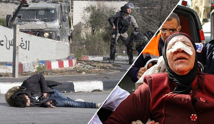İsrail yine törer estirdi, Filistinli genci taradılar