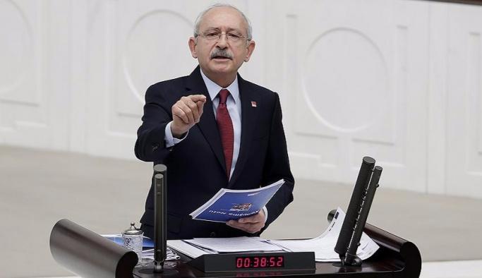Kılıçdaroğlu, FETÖ'nün temennisini Meclis'te dile getirdi