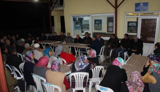 Kumluca'da Mahalle toplantıları