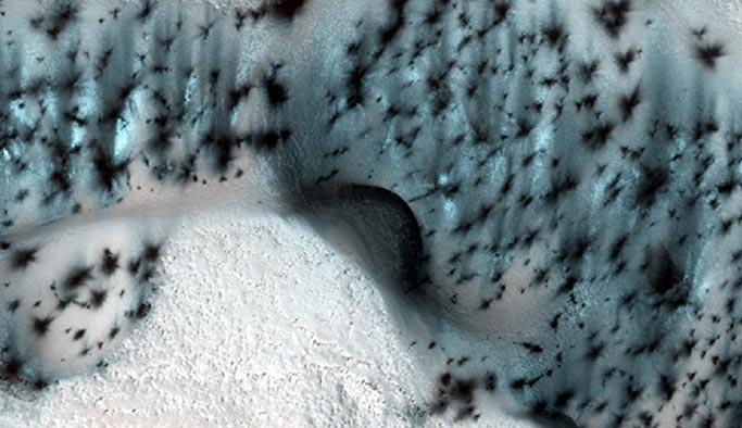Mars'ta kış mevsiminin görüntüleri