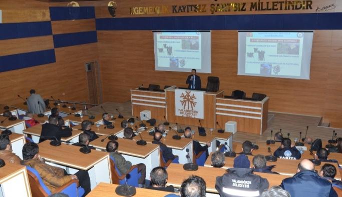 Palandöken Belediyesi personeline uyuşturucu ile mücadele eğitimi verildi