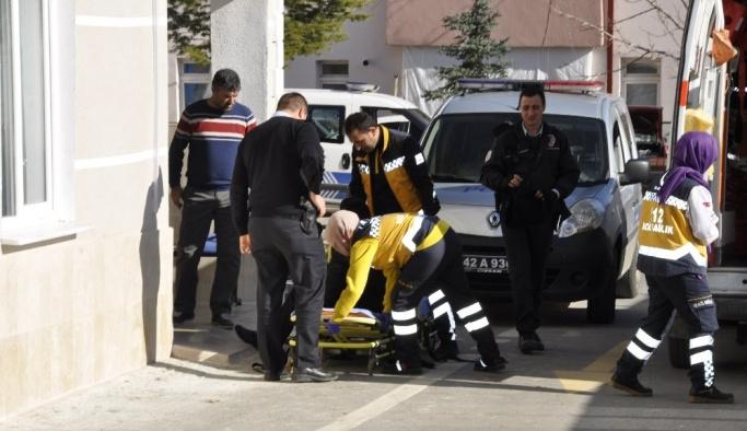 Polisten kaçarken bacağını kırdı