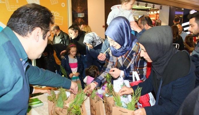 Samsun'da 3 bin fidan dağıtıldı