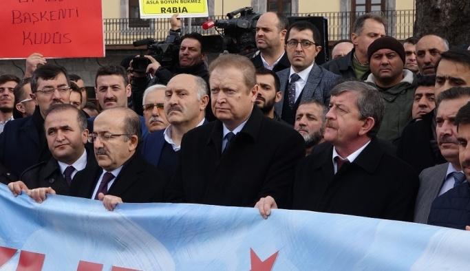 """Trabzon'da Cuma Namazı sonrasında """"Kudüs"""" protestosu"""
