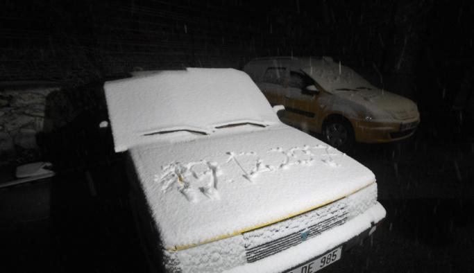 Trakya'nın yüksek kesimlerinde kar yağdı