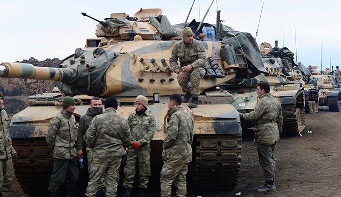Afrin'e bir operasyon da Azez'den başlatıldı