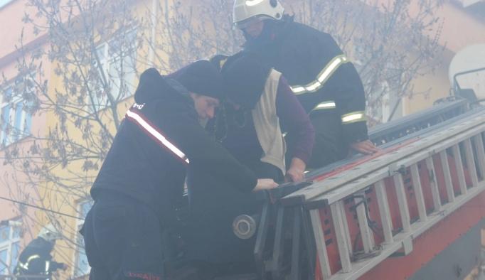 Çerkezköy'de yangın