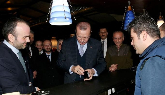 Cumhurbaşkanı Erdoğan Etiler'de çorbacıya gitti
