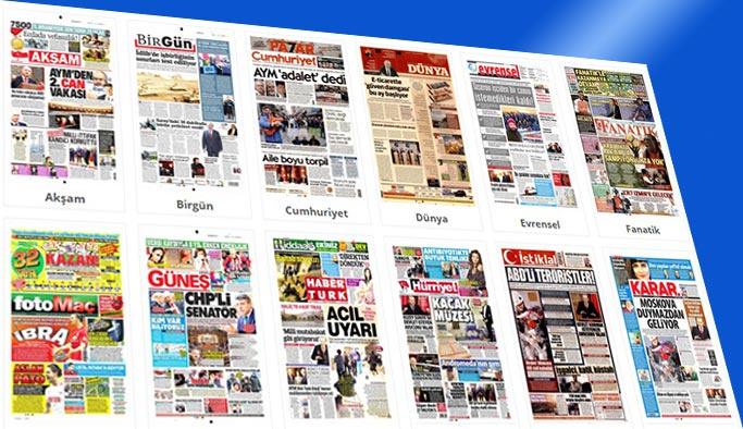 Gazete manşetleri 12 Ocak 2018