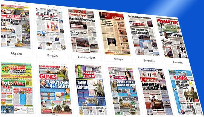 Gazete manşetleri (26 Ocak 2018)