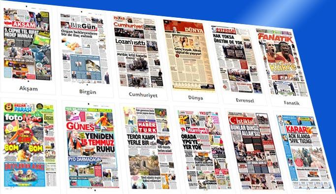 Gazete manşetleri 28 Ocak 2018
