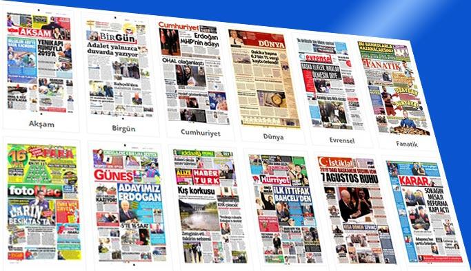 Gazete manşetleri 9 Ocak 2018