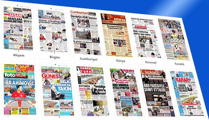 Gazetelerin bugünkü manşetleri 15 Ocak 2018