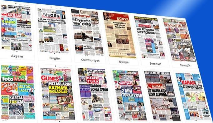 Gazetelerin bugünkü manşetleri 18 Ocak 2018