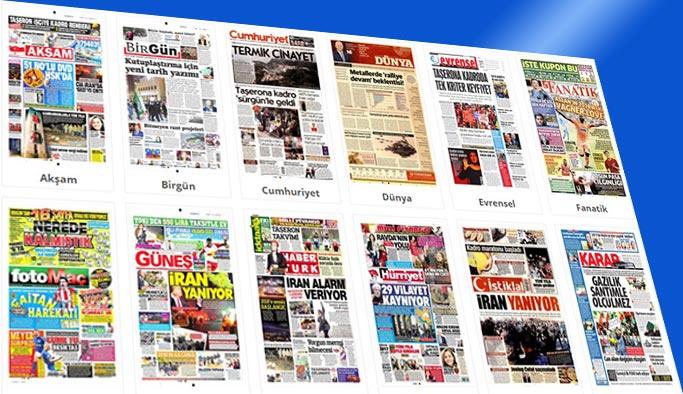 Gazetelerin bugünkü manşetleri 2 Ocak 2018