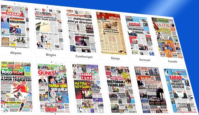 Günün gazete manşetleri 13 Ocak 2018