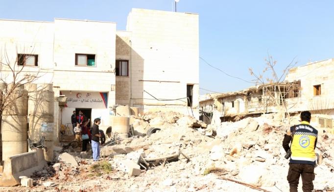 İdlib'de hastaneye hava saldırısı: 1 ölü, 3 yaralı
