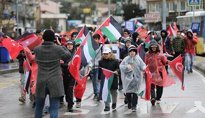 İstanbul halkı Kudüs için koştu