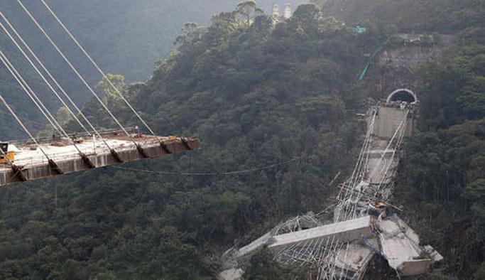 Kolombiya'da facia, köprü çöktü, çok sayıda ölü var
