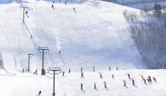 Kop Dağı Kayak Merkezi'nde kayak sezonu açıldı