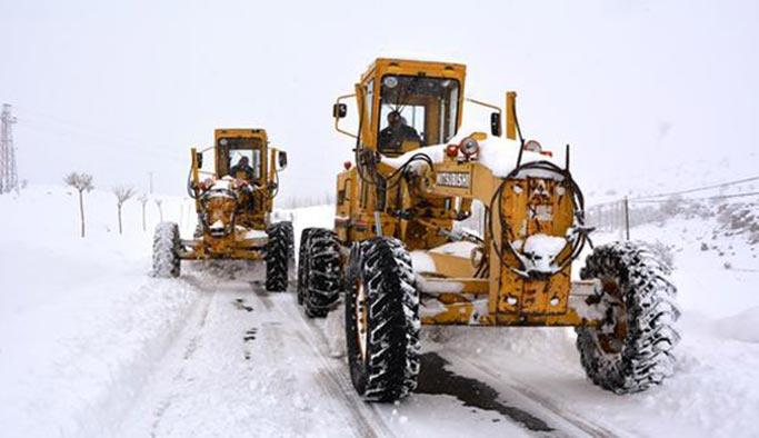 Niğde'de 19 köy yolu kapandı