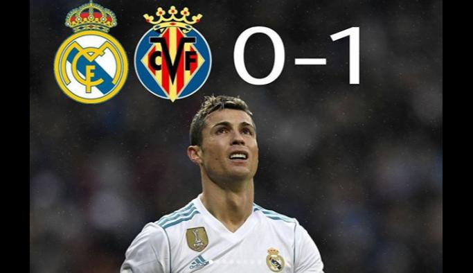Real Madrid kendi evinde kaybetti - Real Madrid Villarreal maç sonucu: 0-1