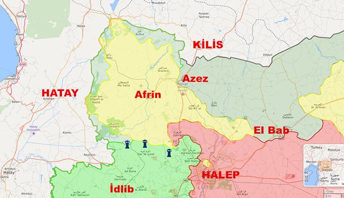 Afrin'den son dakika haberi! Azez-Bülbül arası birleşti