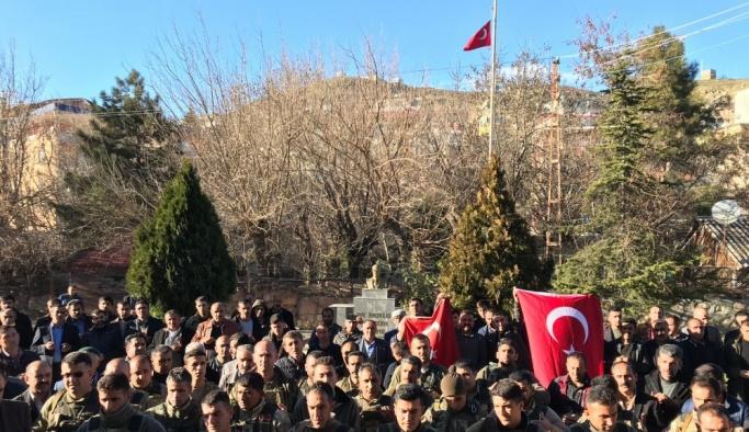 Afrin'deki Mehmetçik'e koruculardan gönüllü destek