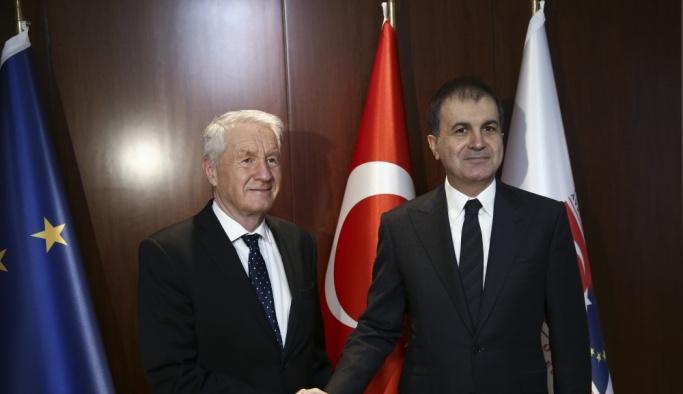 Bakan Çelik Avrupa Konseyi Genel Sekreteri Jagland ile bir araya geldi