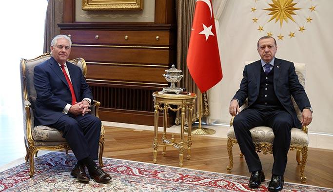 Cumhurbaşkanı Erdoğan Tillerson'u kabul etti