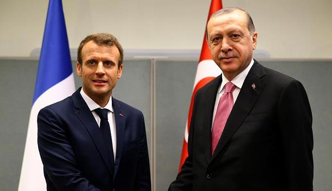 Erdoğan ile Macron telefonda görüştü