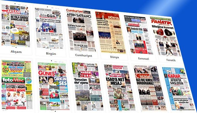 Gazetelerin bugünkü manşetleri 20 Şubat 2018