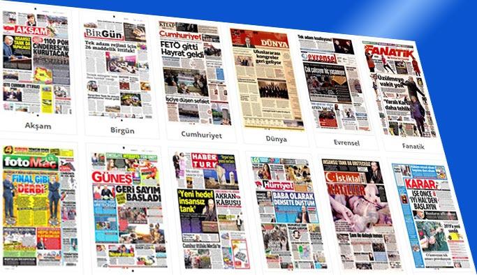 Gazetelerin bugünkü manşetleri 22 Şubat 2018