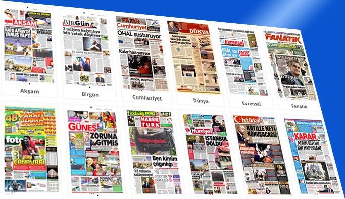 Gazetelerin bugünkü manşetleri 9 Şubat 2018