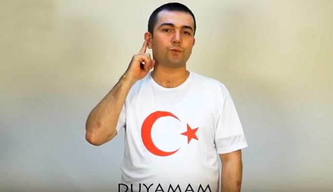 İşitme engellilerden Mehmetçik'e videolu destek