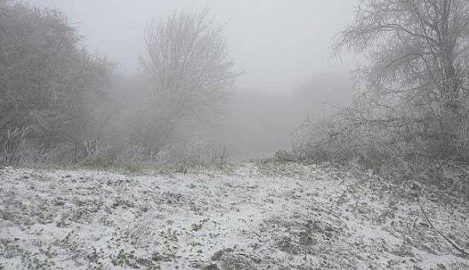 Kar yağışı Trakya'da kendini gösterdi