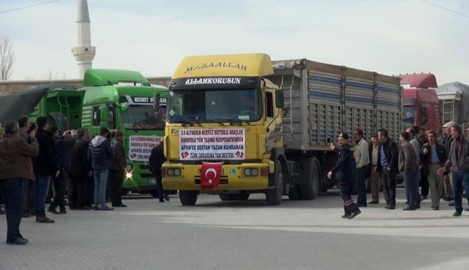 300 TIR ile Afrin operasyonuna destek