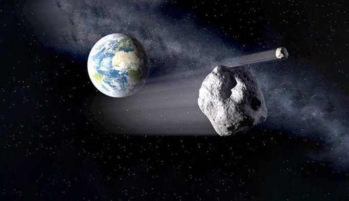 Meteor Dünya'yı teğet geçti