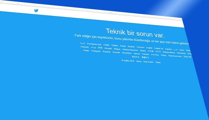 Sosyal medya devi Twitter çöktü