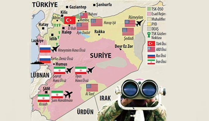 Suriye'de kaç ülke var, hangi bölgeleri tutuyor?