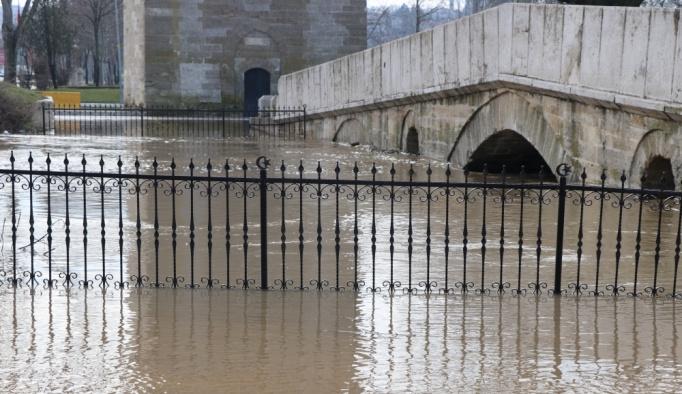 Tunca Nehri'nin debisi yeniden yükseldi