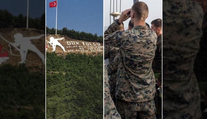 ABD'li askerler dürbünle baktı