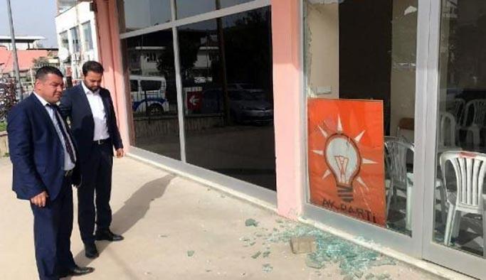 AK Parti ofisini taşlı saldırı