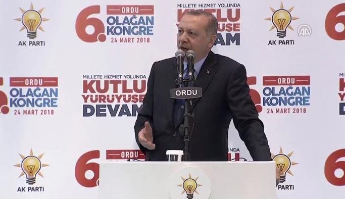 Erdoğan'dan AK Partili gençlere 'slogan' uyarısı