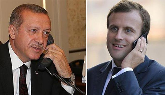 Erdoğan telefonda Macron'a tepki gösterdi