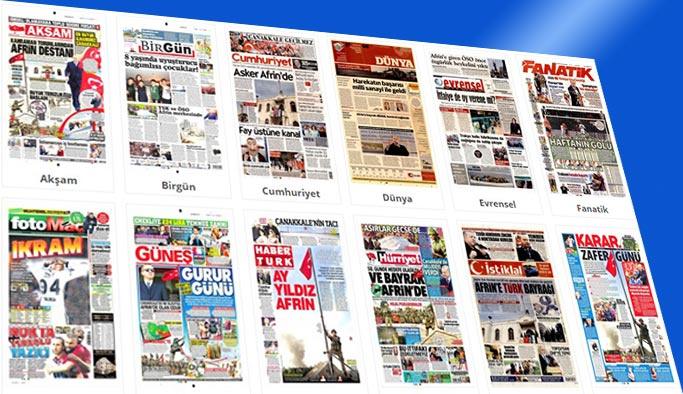 Gazetelerin bugünkü manşetleri 19 Mart 2018